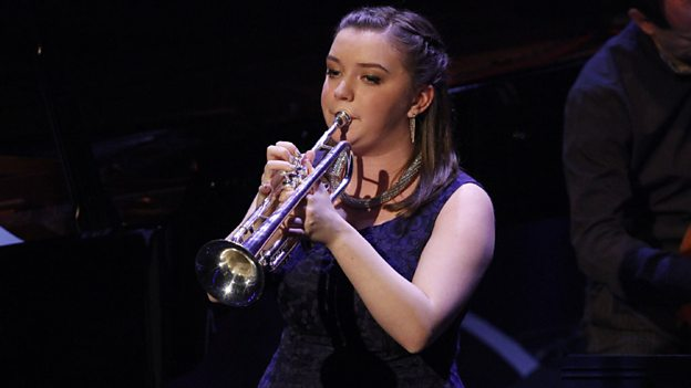 Alexandra Ridout on trumpet