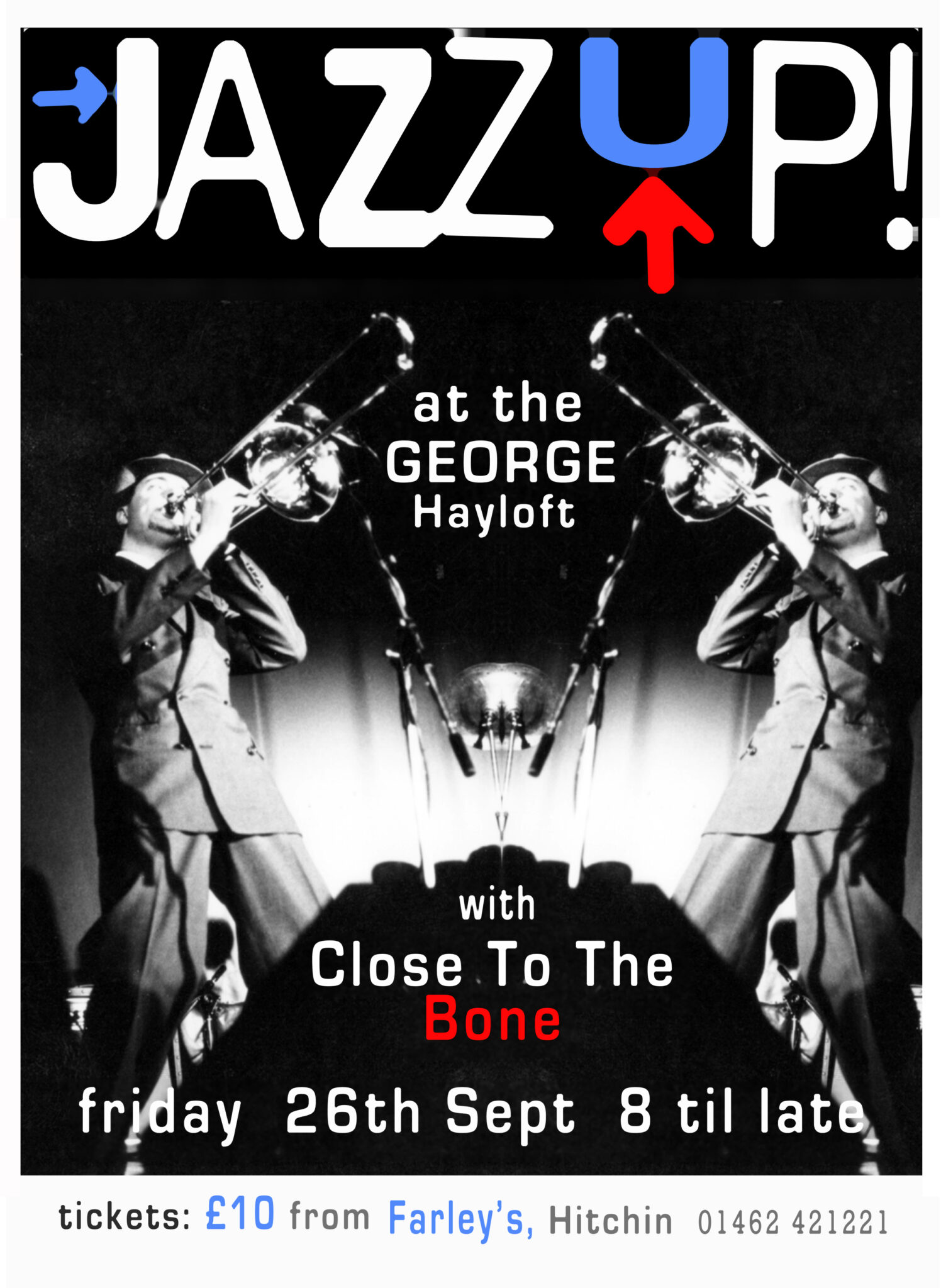 JazzUp The George Sept 2014  poster from before Del Woodward  Design